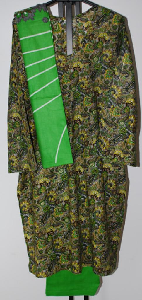 Green Paisley Print Salwar Kameez sk1081