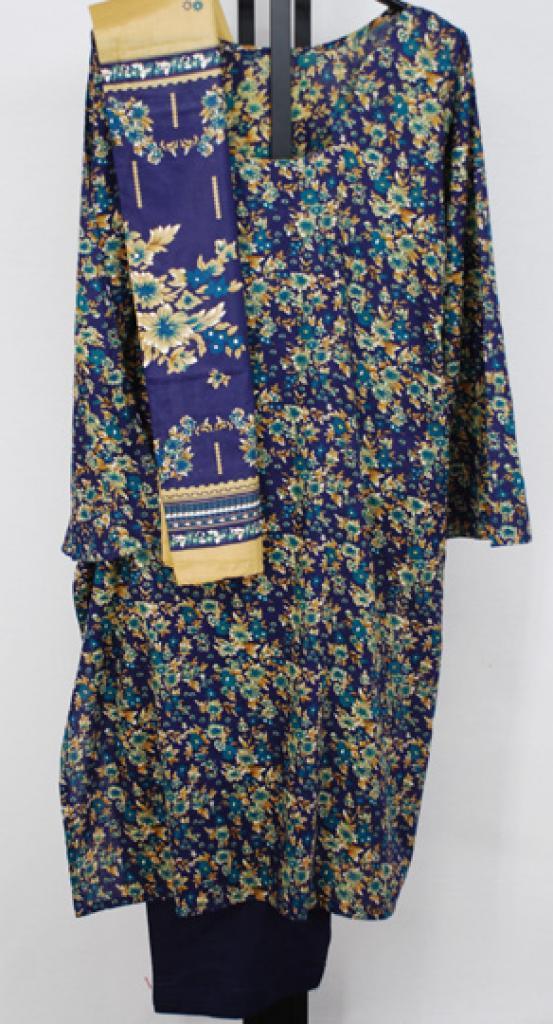 Bronze Flowers Cotton Salwar Kameez sk1099