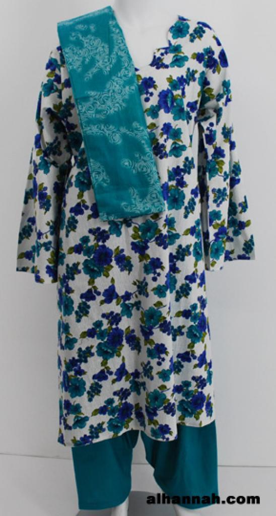 Bright Floral Cotton Salwar Kameez  sk1109