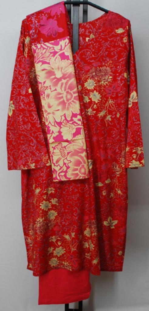 Vibrant Floral Silhouette Printed Cotton Salwar Kameez sk1129