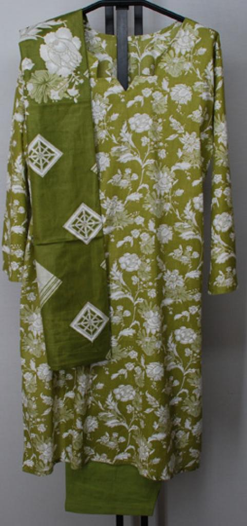 Duotone Floral Print Cotton Salwar Kameez sk1132