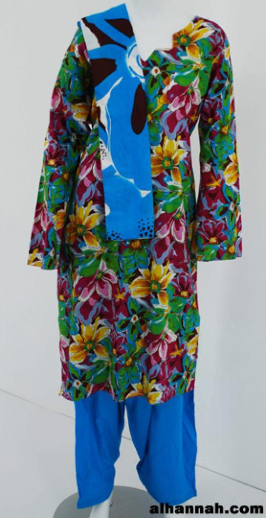 Multicolor Tigerlilly Print Cotton Salwar Kameez  sk1144