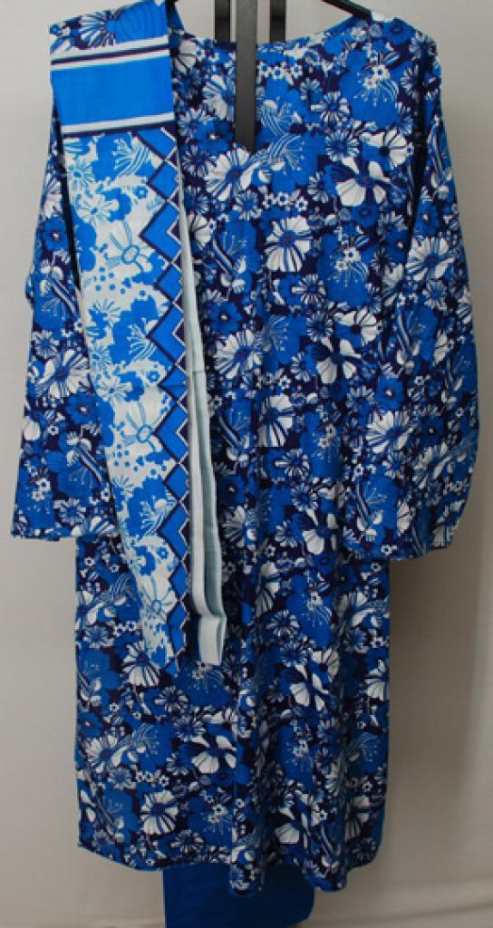 Tritone Floral Print Cotton Salwar Kameez  sk1146