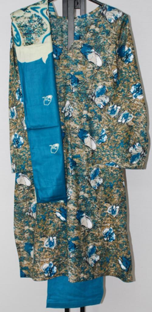 Abstract Bloom Print Cotton Salwar Kameez sk1153