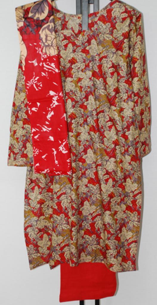 Fall Foliage Print Cotton Salwar Kameez sk1160