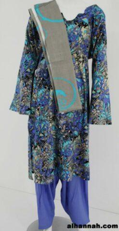 Multitone Floral Print 100% Cotton Salwar Kameez sk1166