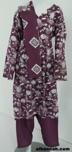 Multitone Floral Print 100% Cotton Salwar Kameez sk1167