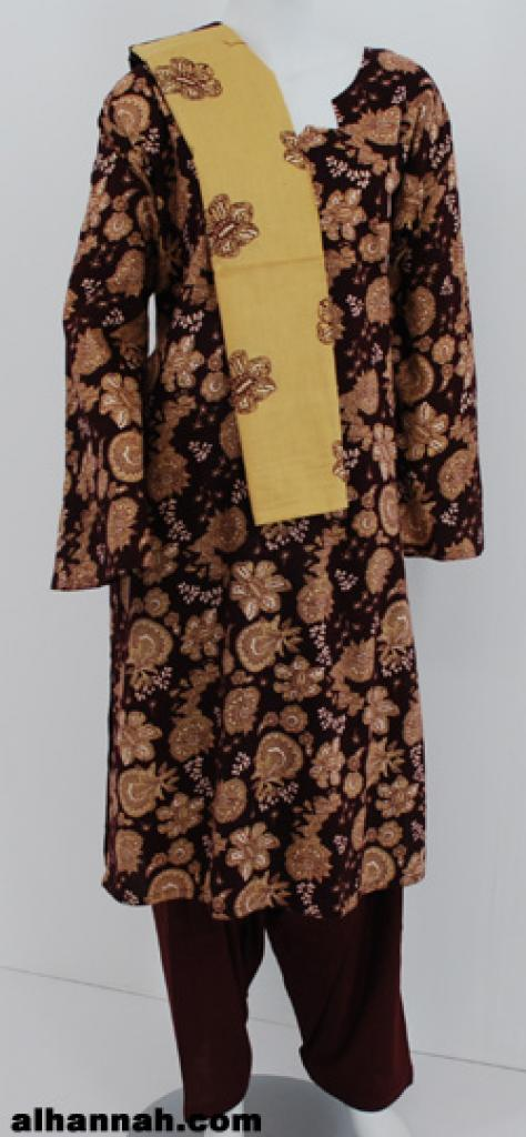 Copper Paisley Print Cotton Salwar Kameez  sk1174