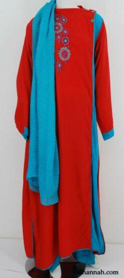 Premium Embroidered Rayon-blend Salwar Kameez sk1184
