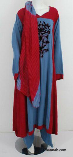 Premium Embroidered Rayon-blend Salwar Kameez sk1189