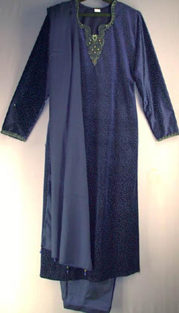 Fancy Blue Velvet Salwar Kameez sk230