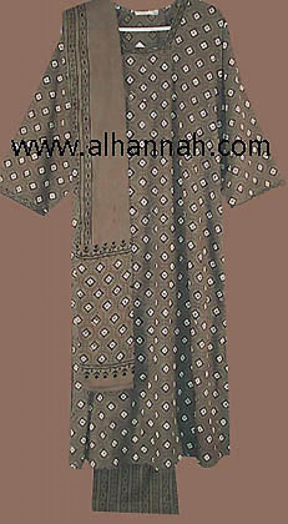 Tan Earth Tone Print Salwar Kameez sk404