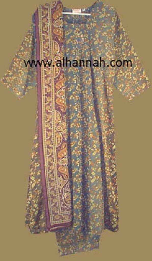 Earth Tones  Floral  Print Salwar Kameez  sk405