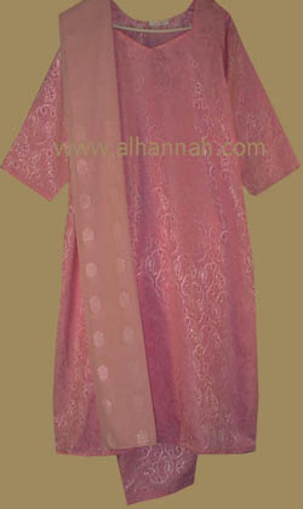 Pink Floral Jaquard Salwar Kameez  sk407