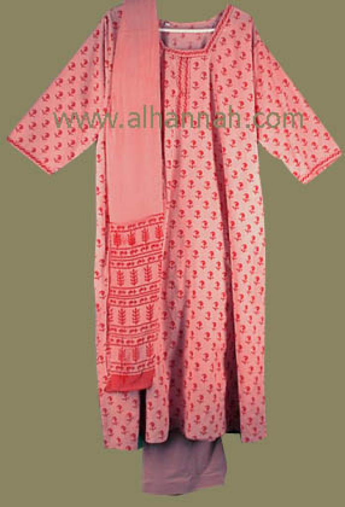 Pink Print Salwar Kameez  sk413
