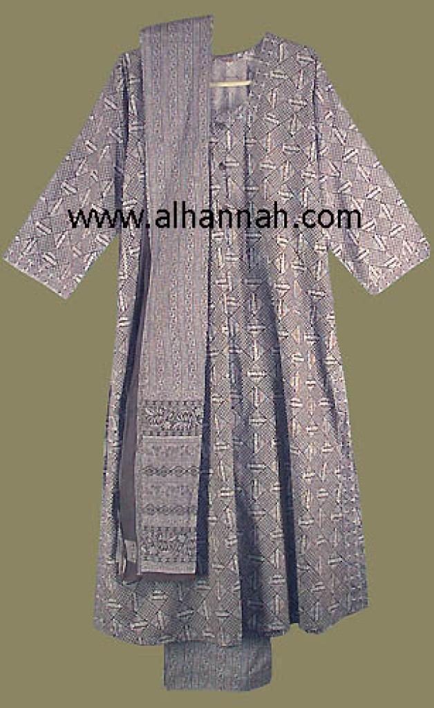 Grey and White Salwar Kameez  sk418