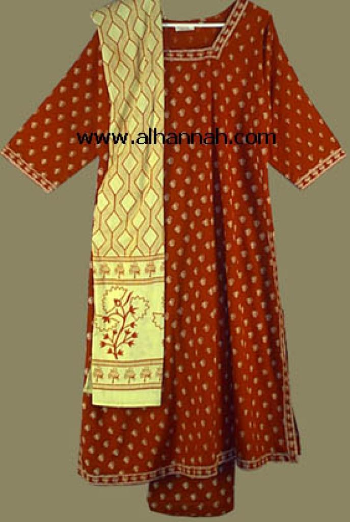Red Print Salwar Kameez  sk419