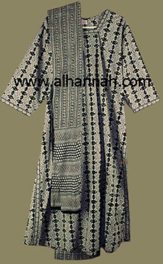 Black  Print Salwar Kameez  sk420