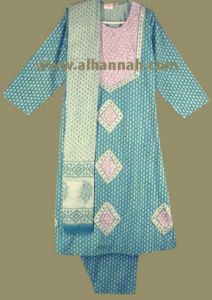 Teal and White Mirrored Salwar Kameez sk431