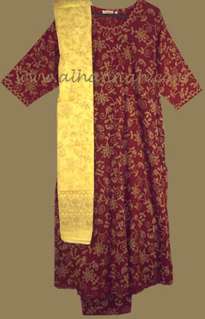 Red Print Salwar Kameez sk446