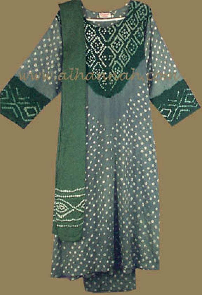 Green Tones Print Salwar Kameez sk448