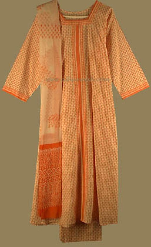 Tangerine Salwar Kameez   sk480