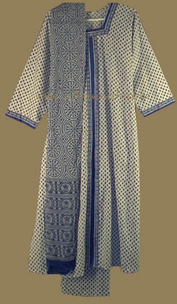 Traditional Blue Print Salwar Kameez sk481