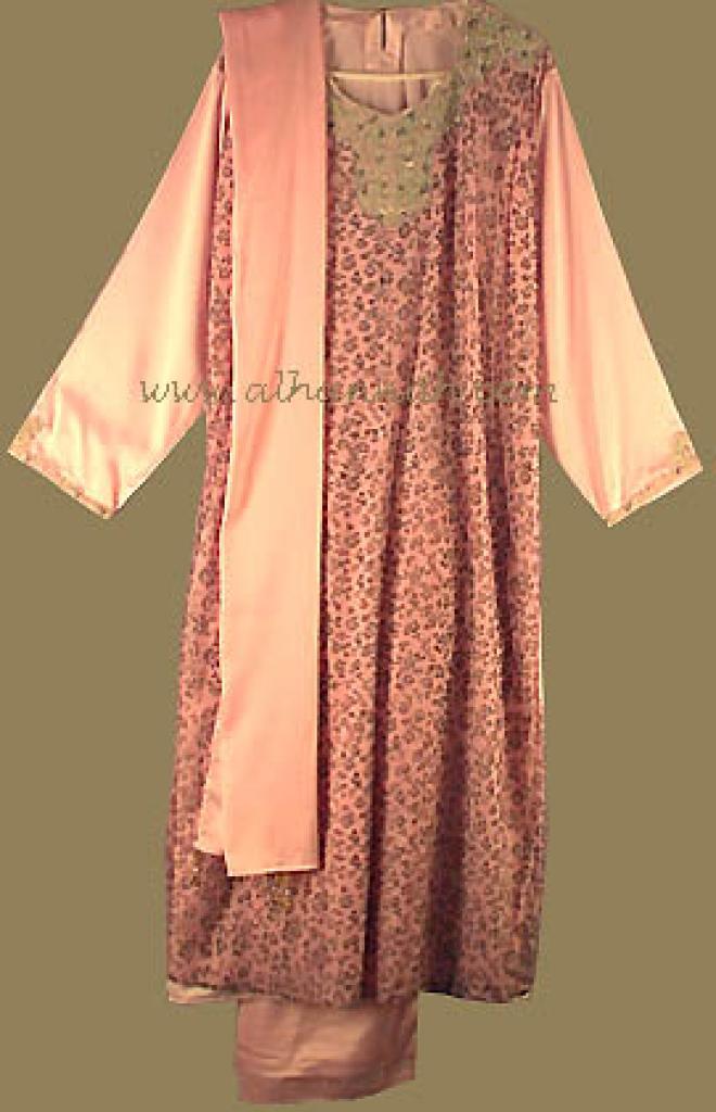 Pink Satin Formal Salwar Kameez sk484