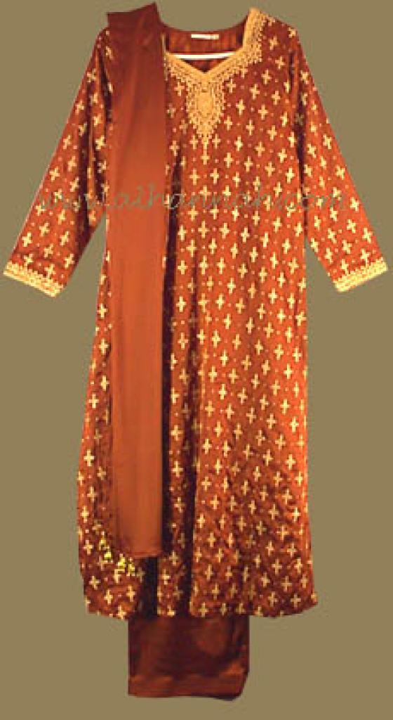 Satin Beaded Salwar Kameez sk489