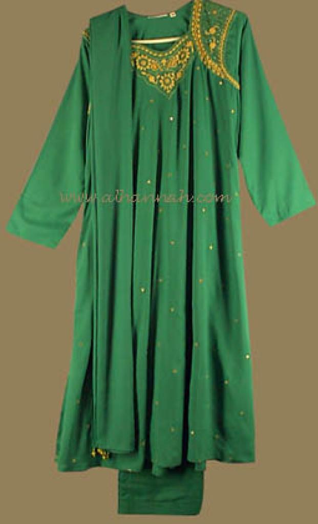 Silk Beaded Sequined Salwar Kameez sk491