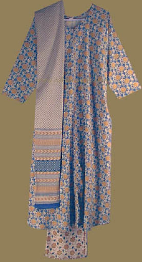 Traditional Floral Print Salwar Kameez sk493