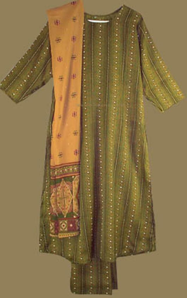Traditional Paisley Stripe Salwar Kameez sk502