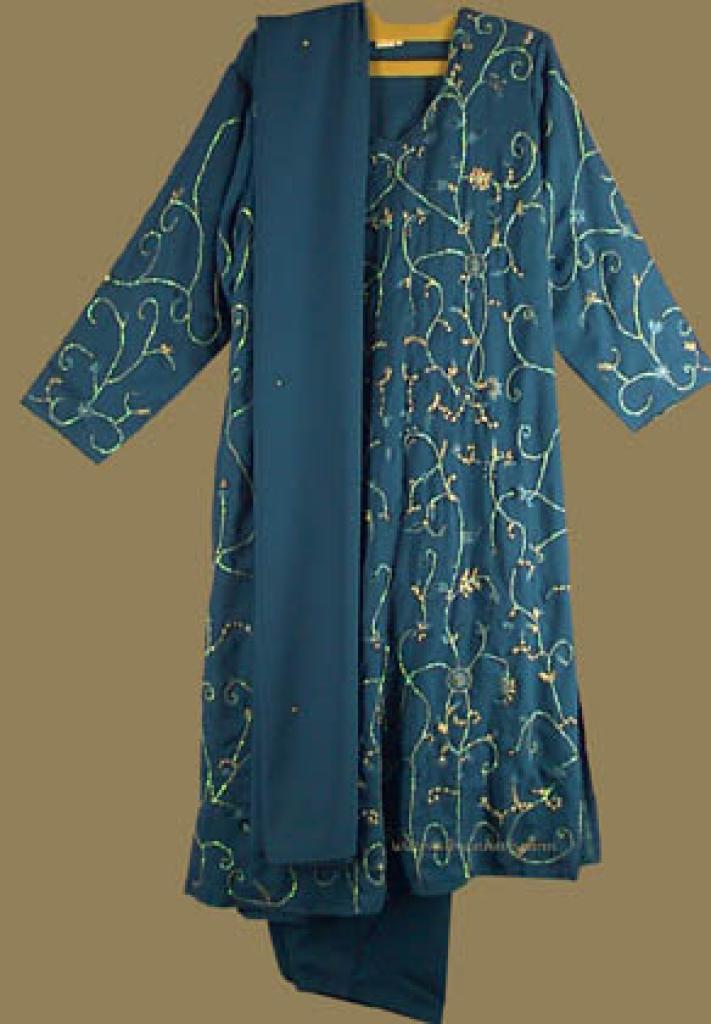 Sequined and Embroidered Salwar Kameez sk522