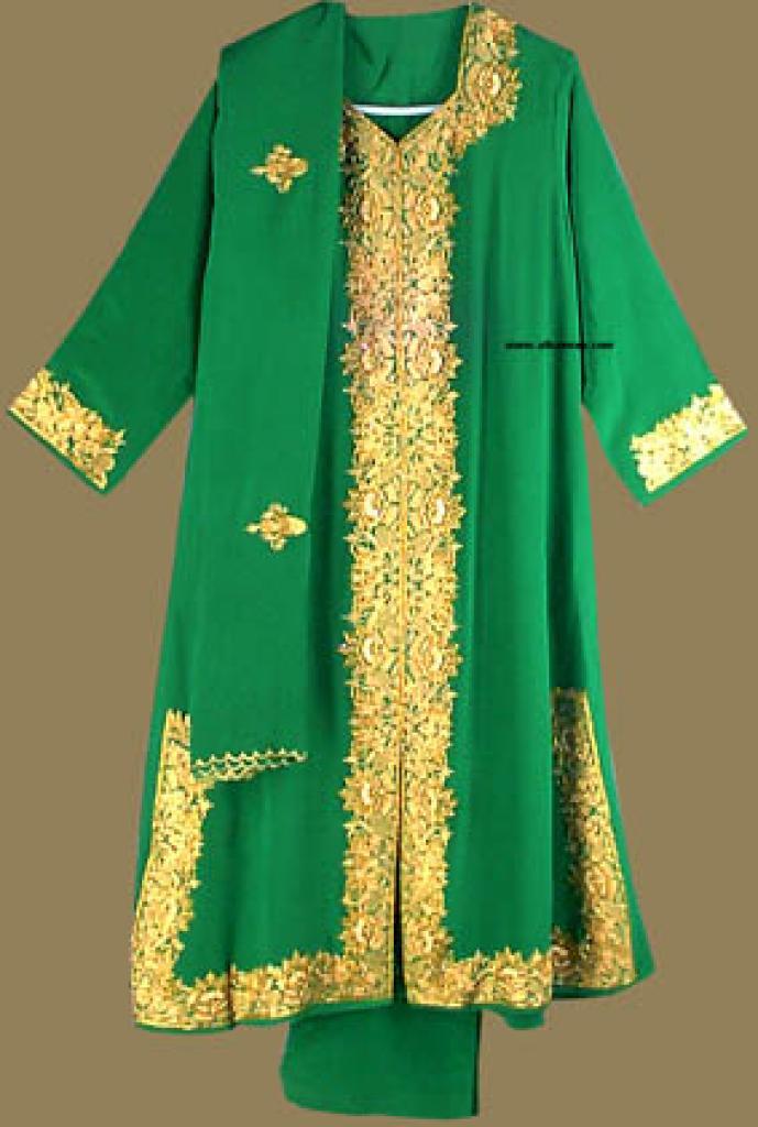 Golden Beaded and Sequined Salwar Kameez  sk546
