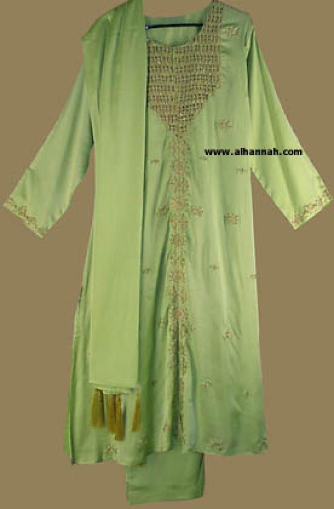 Traditional Embroidered Satin Salwar Kameez   sk547