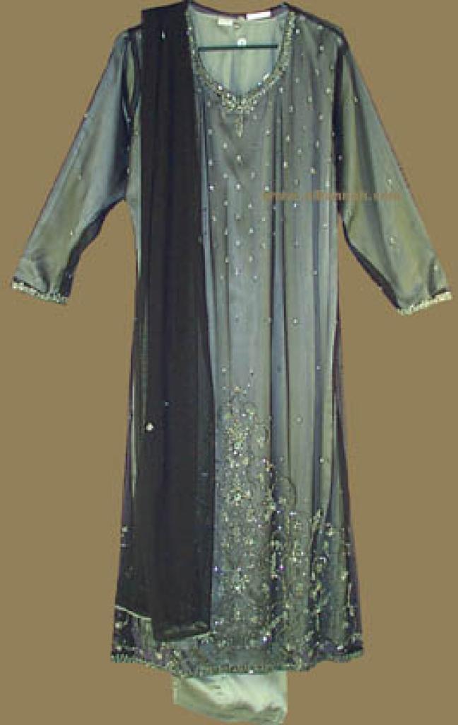 Festive Beaded and Sequined Salwar Kameez   sk550