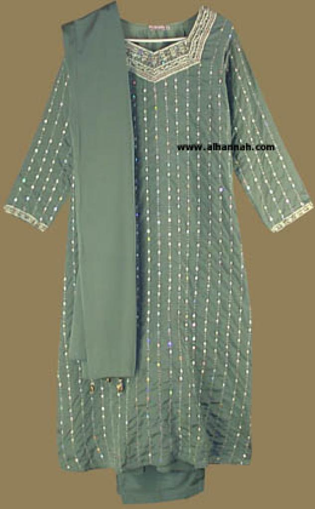 Embroidered and Seqined Salwar Kameez   sk552