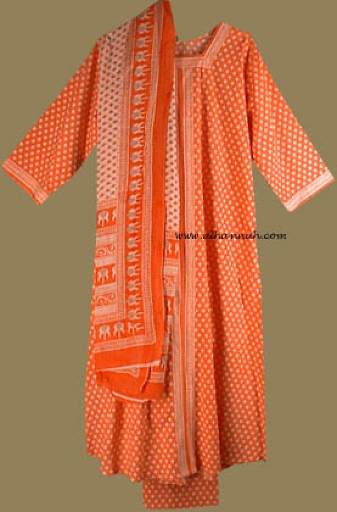 Traditional Print Salwar Kameez sk590