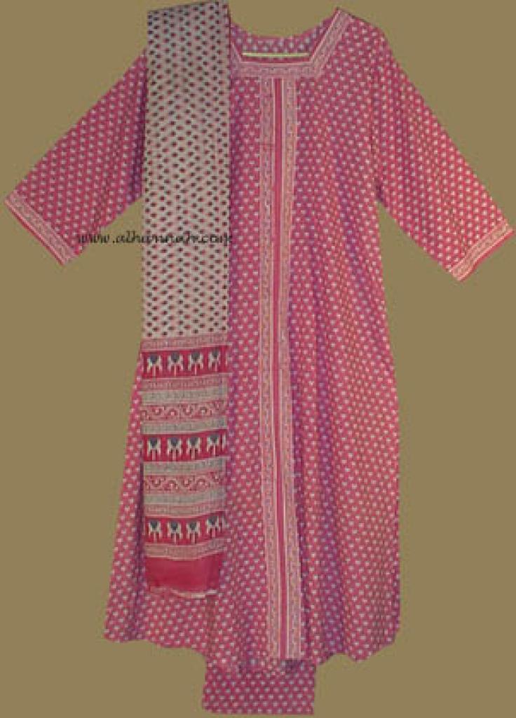 Traditional Print Salwar Kameez   sk605