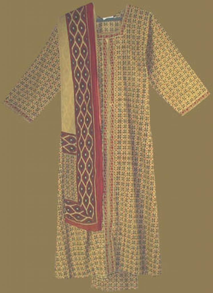 Traditional Geometric Print Salwar Kameez sk640