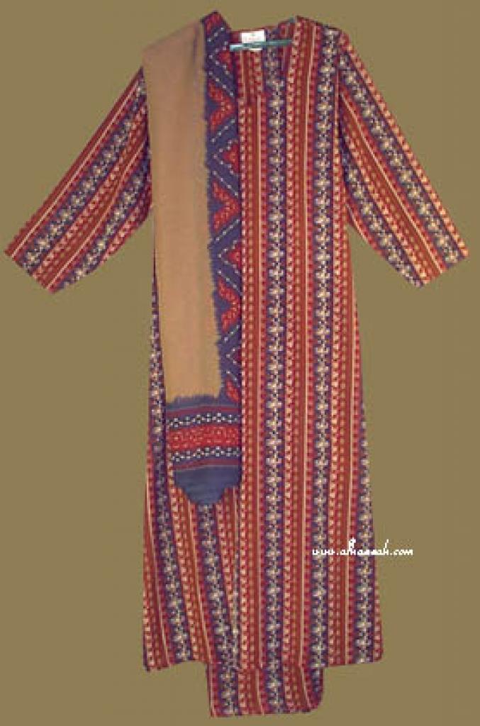 Traditional Striped Salwar Kameez   sk641