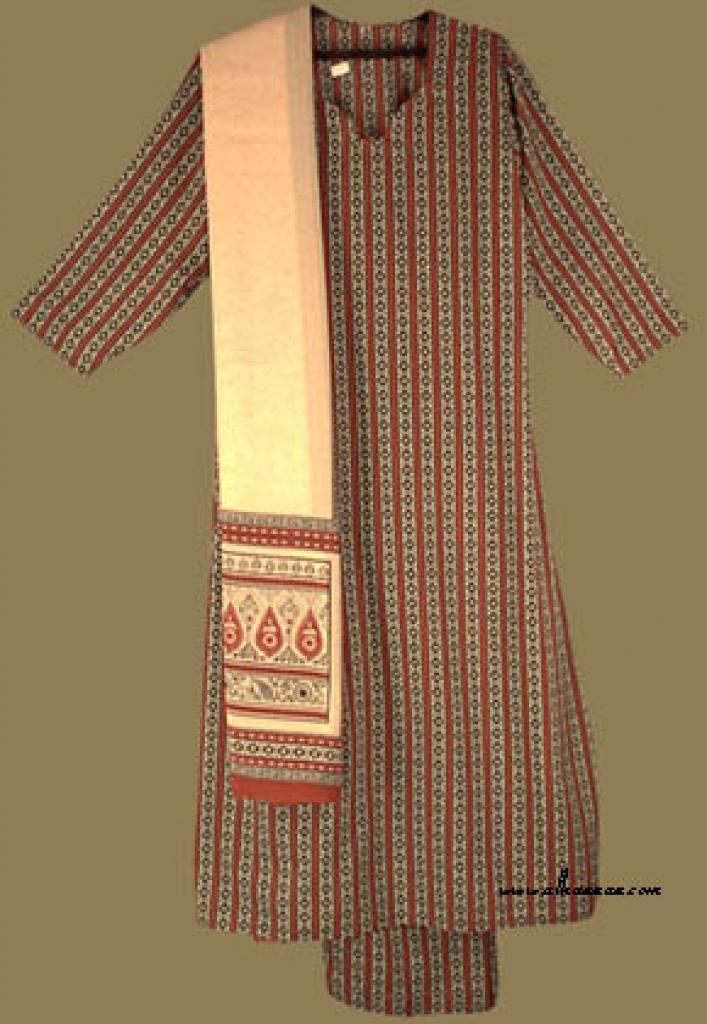 Traditional Print Salwar Kameez  sk658