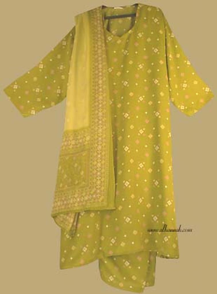 Traditional Geometric  Print  Salwar Kameez   sk684