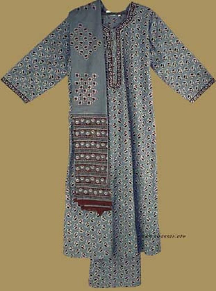 Traditional Print Salwar Kameez   sk706