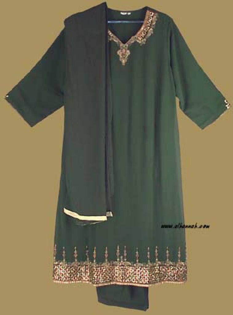 Antique Embroidered Chiffon Salwar Kameez   sk725