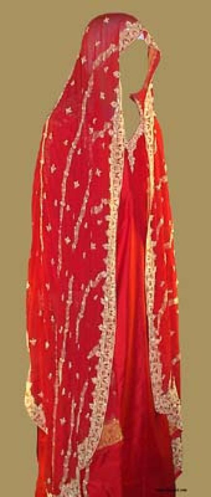 Golden Embroidered Silk Wedding Salwar Kameez  sk741