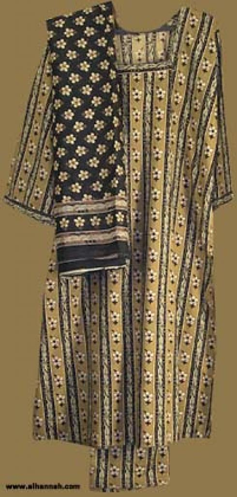 Traditional Striped Salwar Kameez   sk812