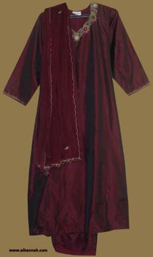 Embroidered Silk Salwar Kameez  sk824
