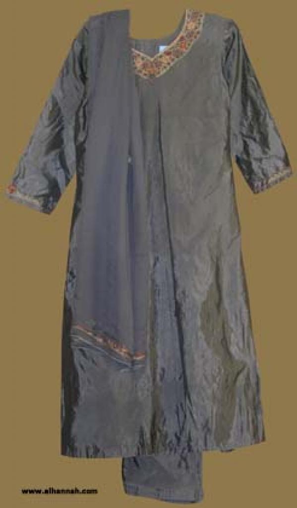 Embroidered Silk Salwar Kameez  sk825