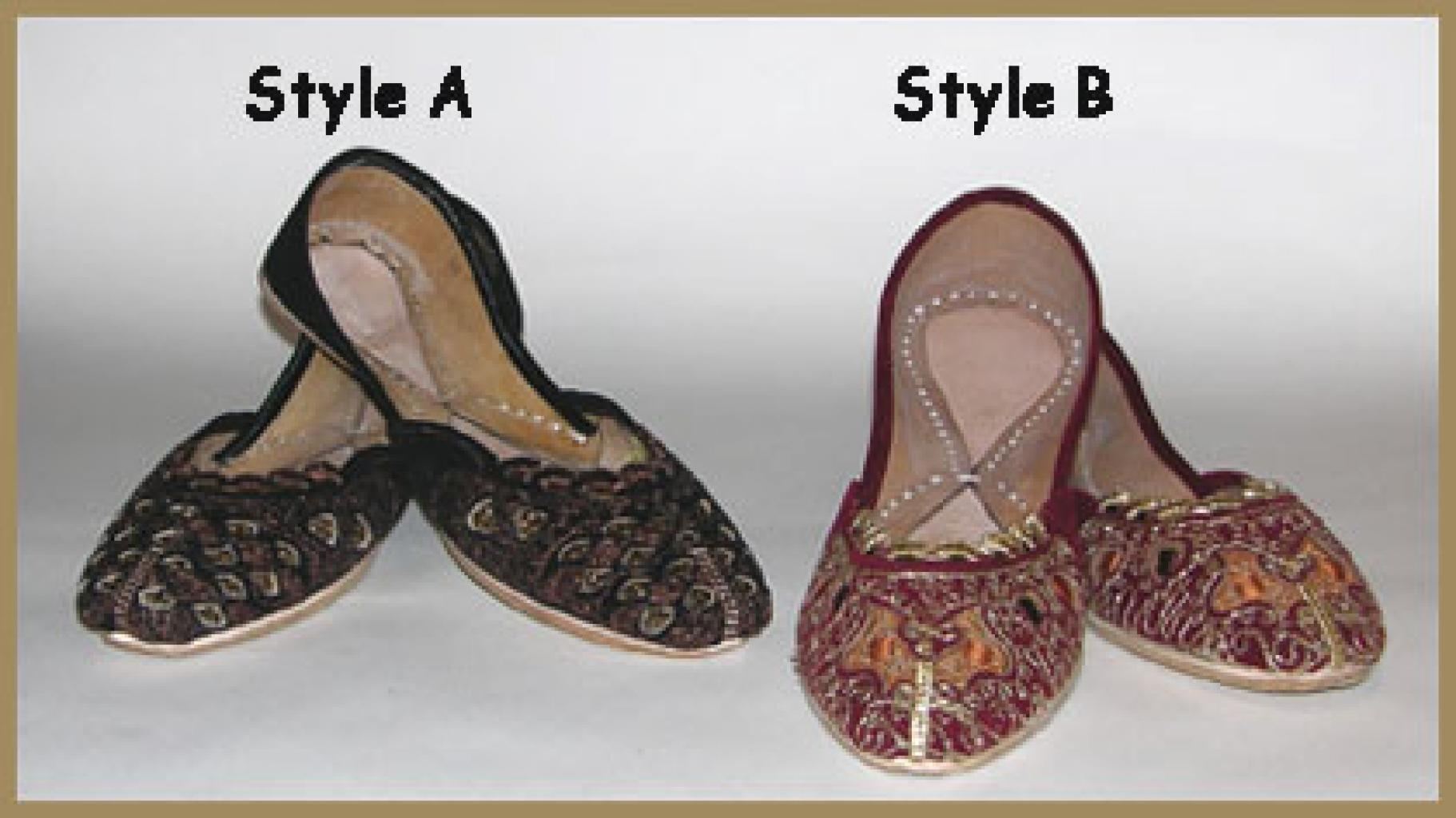 Embroidered Velvet Punjabi Shoes sk905